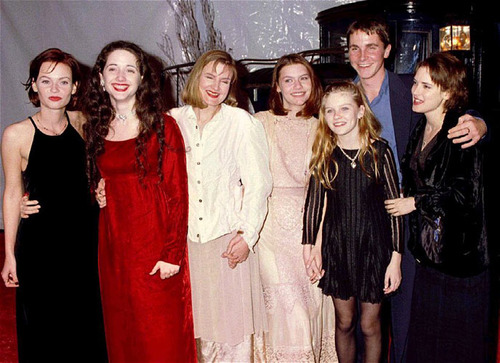 Family photo of the actress, married to Scott Mackinlay Hahn ,  famous for Beetle Juice, Dracula and Little Women...